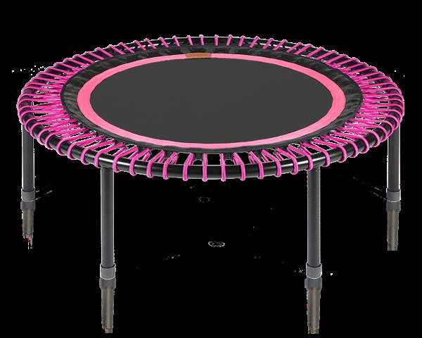 Image of   Bellicon - verdens bedste trampolin (pink-sort med foldeben)