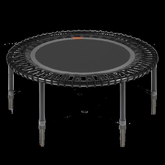 Image of Bellicon - verdens bedste trampolin (grå-sort med foldeben)
